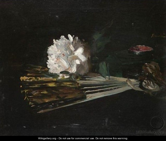 Still Life With A Fan And A Carnation - George Leslie Hunter