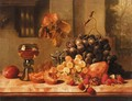 Still Life Of Grapes And Raspberry