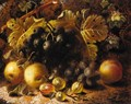 Still Life Of Goosebery's And Grapes - Oliver Clare