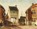 A City Gate In Leerdam - Johannes Franciscus Spohler
