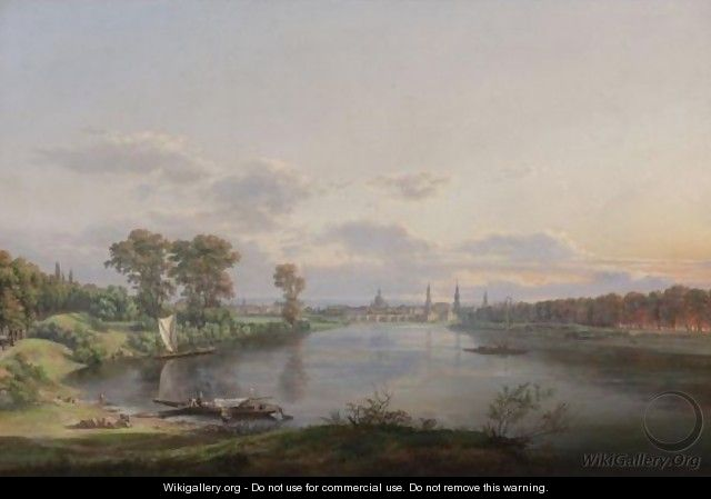 View Of Dresden From The Road To Meissen - Johan Christian Clausen Dahl