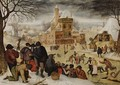 Winter Landscape With Skaters - Pieter The Younger Brueghel
