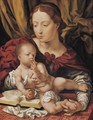 Virgin And Child With An Open Book - (after) Jan (Mabuse) Gossaert