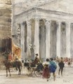 Horse And Carriage At The Royal Exchange - William Walcot
