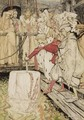 Arthur Pulling Excalibur From The Stone - Arthur Rackham
