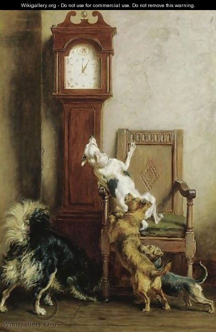 The Mouse Ran Up The Clock - Briton Rivière