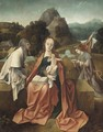 The Rest On The Flight Into Egypt - (after) Cornelis Engelbrechtsz