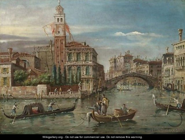 Venice, A View Of San Geremia And The Entrance To Cannareggio - Venetian School