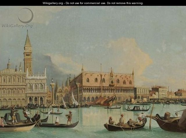 Venice, A View Of The Molo From The Bacino Di San Marco - (after) (Giovanni Antonio Canal) Canaletto