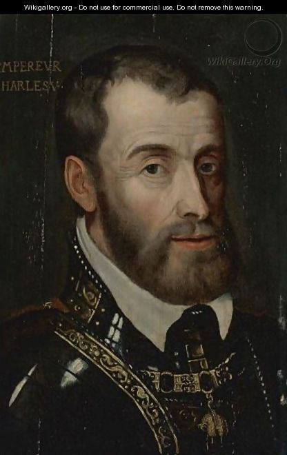 Portrait Of Emperor Charles V - (after) Tiziano Vecellio (Titian)
