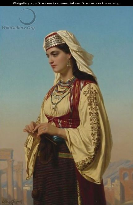 A Greek Beauty - Charles Emile Hippolyte Lecomte-Vernet