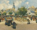 Market Day In Brittany - Fernand Marie Eugene Legout-Gerard