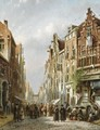 A Crowded Street In A Jewish Quarter - Johannes Franciscus Spohler