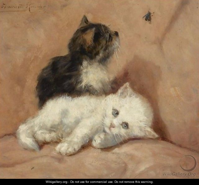 Two Kittens - Henriette Ronner-Knip