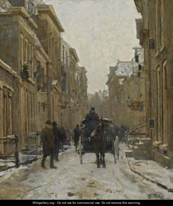 A Carriage In The Streets Of Voorburg - Willem Bastiaan Tholen