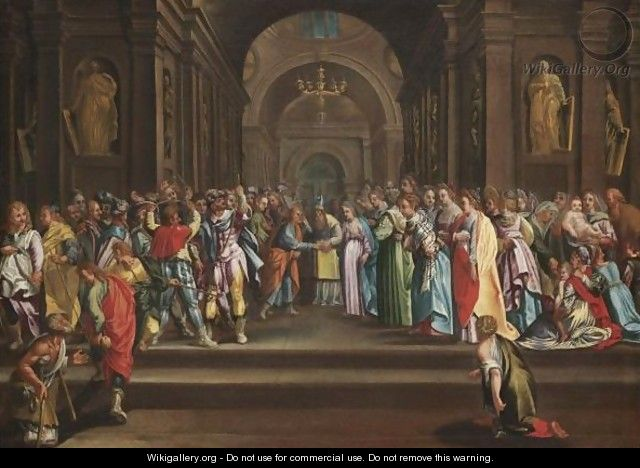 The Marriage Of The Virgin - Italian School