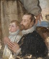 Portrait Of A Gentleman And A Boy At Prayer - Emilian School