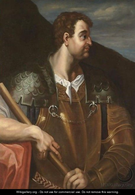 Portrait Of The Emperor Otho, Half Length And In Profile, Wearing Armour - (after) Bernardino Campi