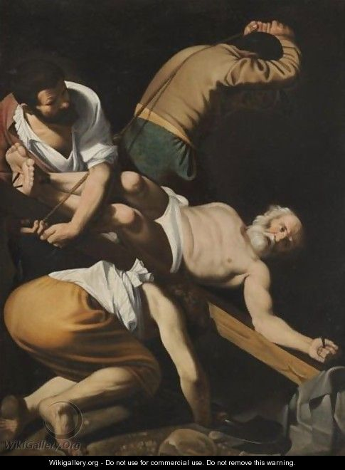The Crucifixion Of Saint Peter - (after) Michelangelo Merisi Da Caravaggio