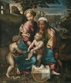 The Madonna And Child With Saint Anne And The Infant Saint John The Baptist - (after) Raphael (Raffaello Sanzio of Urbino)