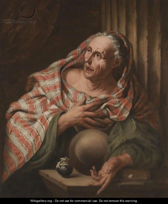 An Elderly Fortune-Teller - (after) Giovanni Battista Langetti