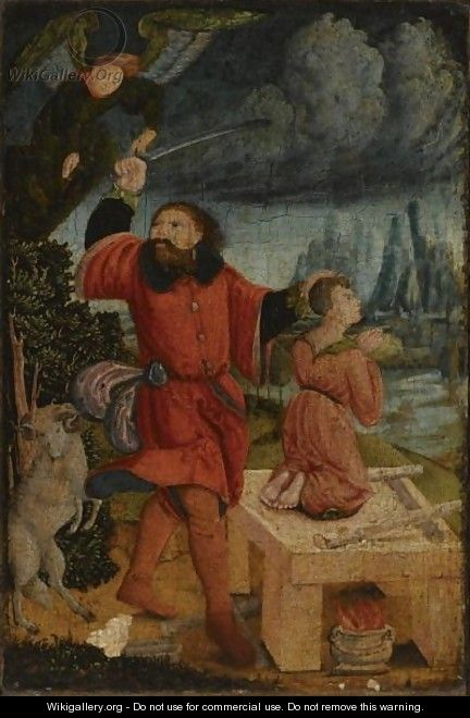 Abraham Sacrificing Isaac - German School