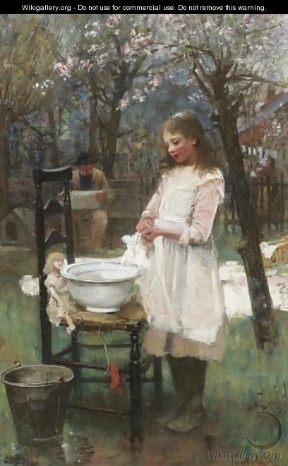 Washing Day - Flora MacDonald Reid