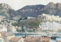 A view Of Cassis Harbour - Stanley Cursiter