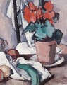 Still Life With Geraniums - Samuel John Peploe