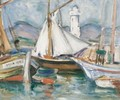 St Tropez From The Harbour - John Maclauchlan Milne