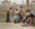 Conversation On The Terrace, Venice - Eugene de Blaas