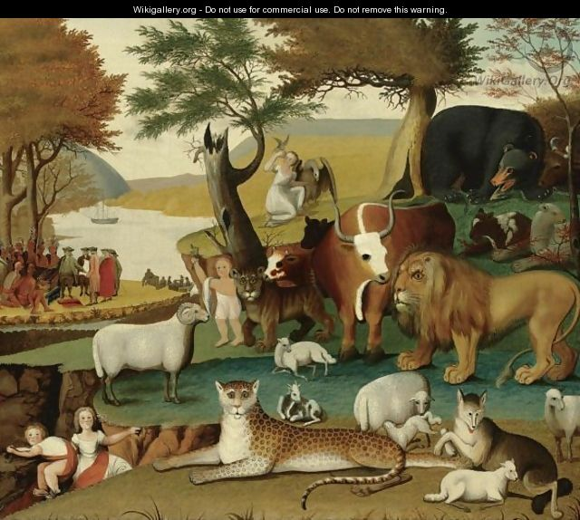 The Peaceable Kingdom With The Leopard Of Serenity - Edward Hicks