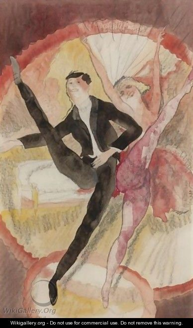 In Vaudeville, Two Dancers - Charles Demuth