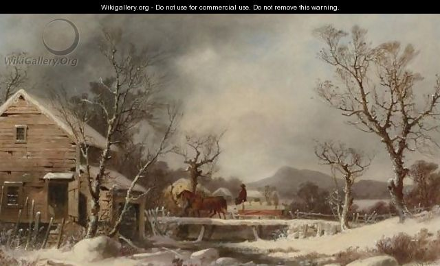 Winter The Old Mill - George Henry Durrie