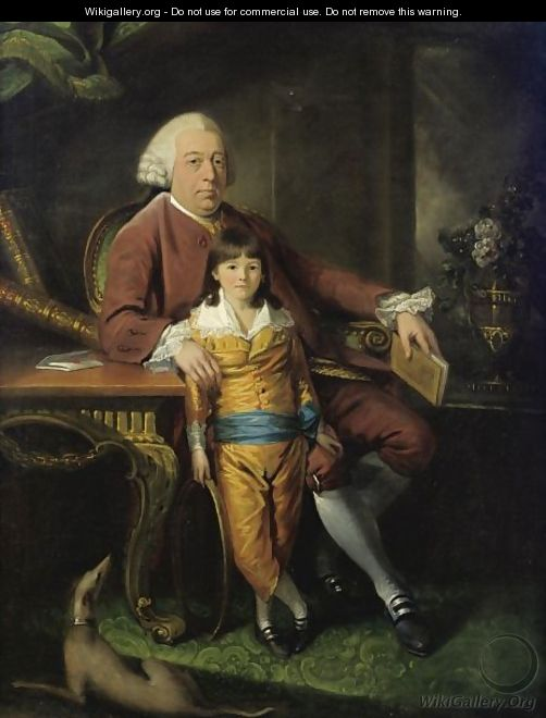 Portrait Of A Gentleman With His Son - Mason Chamberlin