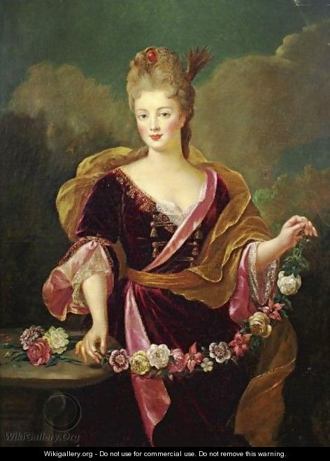 Portrait Of A Woman, Said To Be Adrienne Lecouvreur - (after) Alexis-Simon Belle