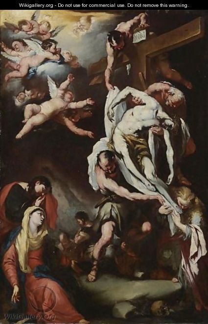 Descent From The Cross - (after) Luca Giordano