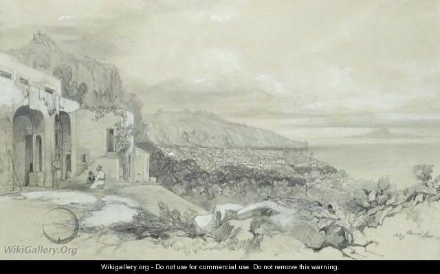 A View Of Sorrento, Italy - Edward Lear