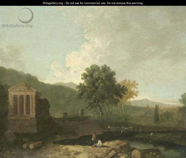 The Temple Of Clitumnus - (after) Richard Wilson