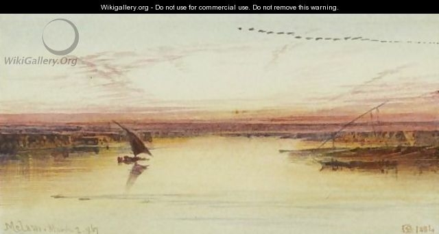 Melawi, Nile Valley - Edward Lear