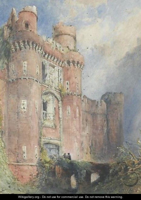 The Grand Entrance To Herstmonceux Castle, Sussex - William Callow