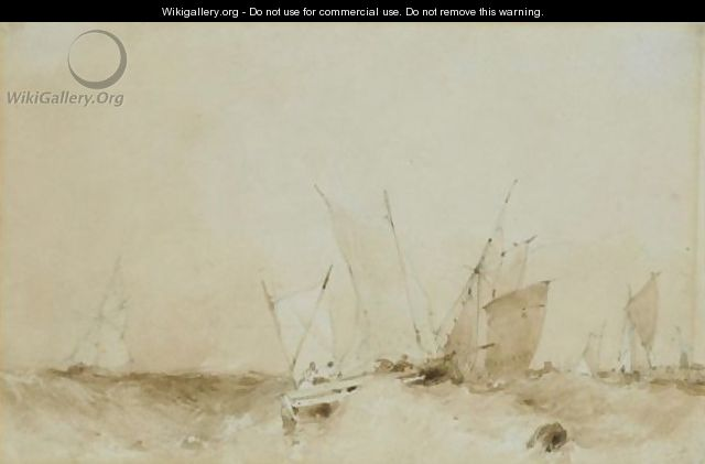 Shipping In High Seas Off Dunkerque - Richard Parkes Bonington