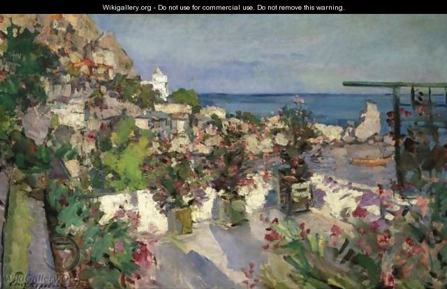 View From The Terrace, Gurzuf - Konstantin Alexeievitch Korovin