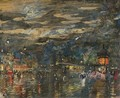 Parisian Boulevard By Night - Konstantin Alexeievitch Korovin