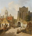 Many Figures In A Dutch Town - Jan Hendrik Verheijen