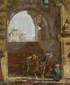 Figures And A Horse Under A Gateway, India - Marius Bauer
