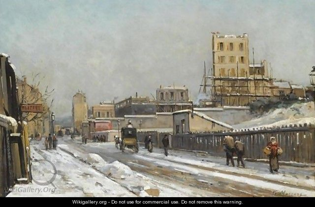 The Outskirts Of Paris In Winter Time - Gustave Mascart