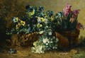 A Still Life With Hyacinths And Violets - Eugene Claude