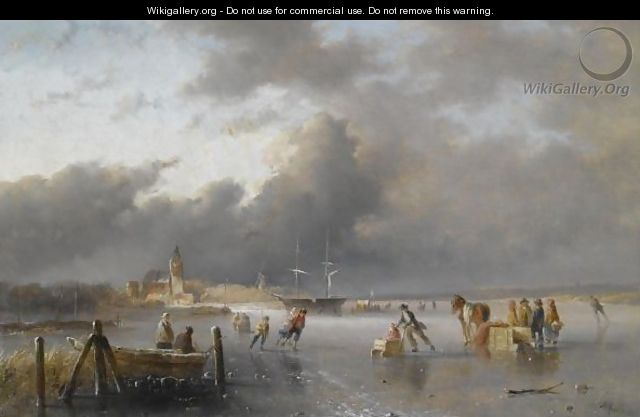 Skaters On A Frozen Waterway, A