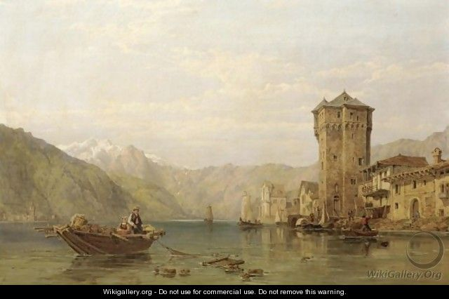 Lago Lugano - George Clarkson Stanfield